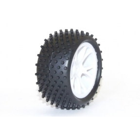 Vantage Rear Buggy Tyre Mounted on Wheels (PR) White