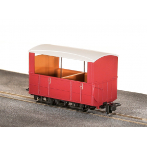 Peco GR-520UR Glyn Valley Tramway 4 Wheel Open Side Coach No Markings Plain Red