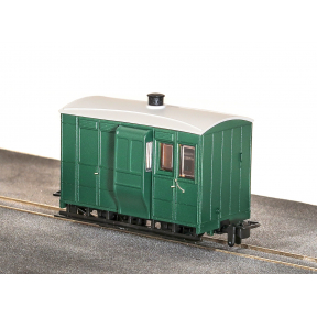 Peco GR-530UG Glyn Valley Tramway 4 Wheel Brake Coach No Markings Plain Green
