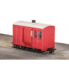 Peco GR-530UR Glyn Valley Tramway 4 Wheel Coach no markings Plain Red