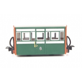 Peco GR-556 OO-9 Ffestiniog Railway Bug Box 3rd Class Coach Early Preservation Livery