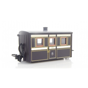 Peco GR-555 OO-9 Ffestiniog Bug Box 3rd Class Coach Purple & Brown