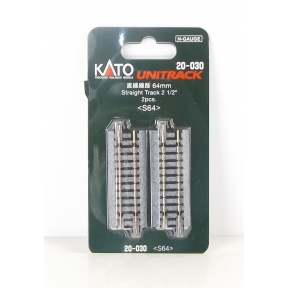 Kato N Gauge Unitrack (S64) Straight Track 64mm (Pack Of 2)