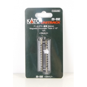 Kato N Gauge Unitrack (S64U) Straight Uncoupler Track 64mm