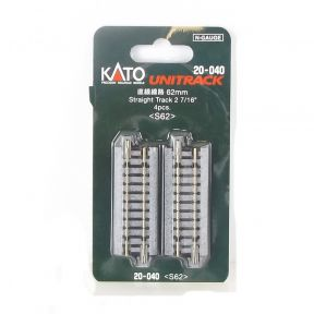 Kato N Gauge Unitrack (S62) Straight Track 62mm (Pack Of 4)