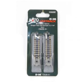 Kato N Gauge Unitrack (S62B-A) Straight Track with Buffer Stop 62mm (Pack Of 2)