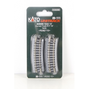 Kato N Gauge Unitrack (R282-15) Curved Track 15 Degree (Pack Of 4)