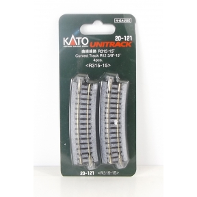 Kato N Gauge Unitrack (R315-15) Curved Track 15 Degree (Pack Of 4)