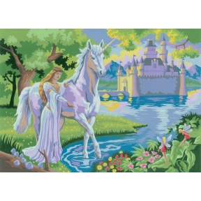 Fairy Castle Painting By Numbe