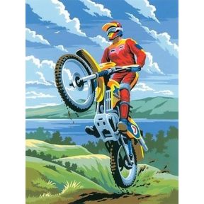 Motocross Painting By Numbers