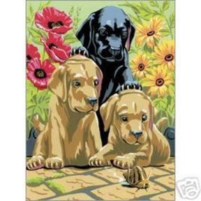 Labrador Puppies Painting By Numbers