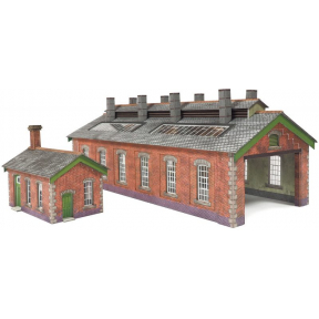 N Gauge Double Track Red Brick Engine Shed