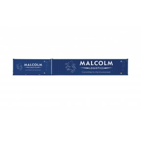 Hornby R6999 Malcolm Logistics Container Pack 1 x 40 and 1 x 20 Containers