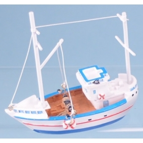 Fishing Boat - 10cm (White Hull)