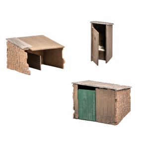 Wills SS19 OO Gauge Grotty Huts & Privy