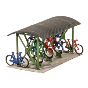 Wills SS23 OO Gauge Bicycle shed & Bicycles