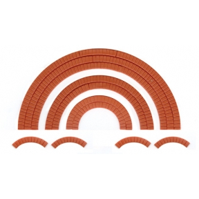 Wills SS55 OO Gauge Brick Arch Overlays