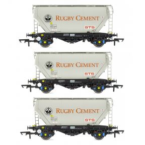 Accurascale ACC2025 OO Gauge Pack Of 3 PCA Bulk Cement Wagons Rugby Cement