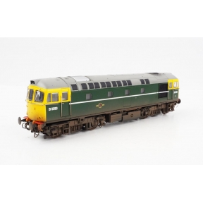 Heljan 1097 OO Gauge Class 33 D6580 BR Green Full Yellow End & 4 x Esso B Tanks (Weathered)