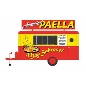 HO Gauge Paella Food Trailer