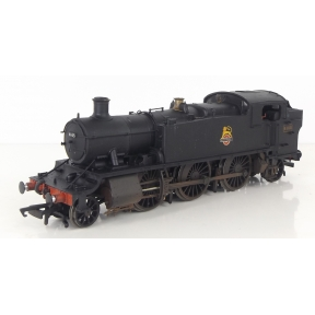 Hornby R3723 OO Gauge GW Large Prairie Tank 2-6-2 6145 BR Black Early Crest Weathered