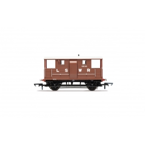Hornby R6911 LSWR 20 Ton 'New Van' Brake Van LSWR Brown 9646
